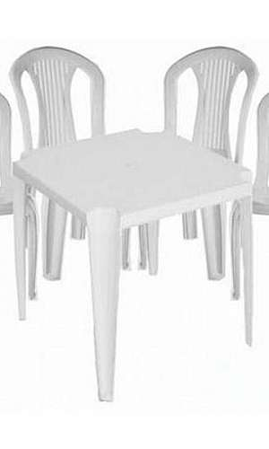 Aluguel de mesa e cadeira plastica em SP