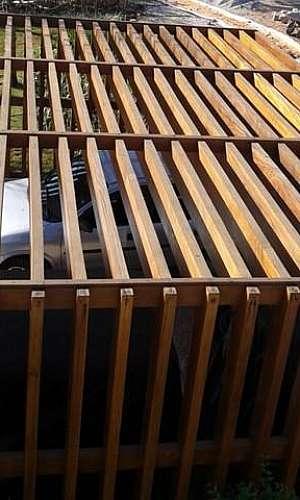 Orçamento para construção de telhado madeira