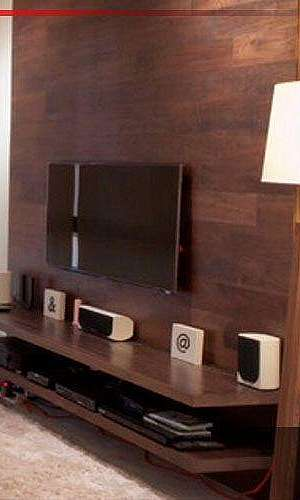 Painel de madeira rústico para tv