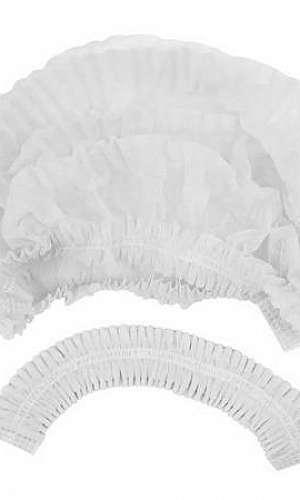 Touca descartável sanfonada branca
